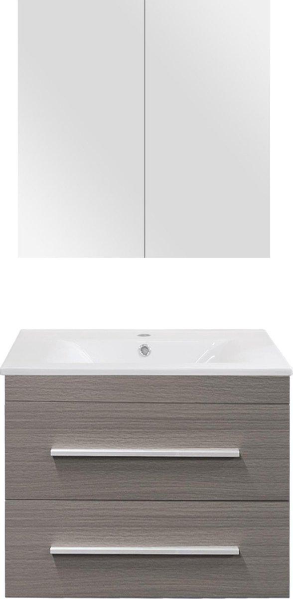 Differnz Style Badkamermeubel - 60 cm - Grijs eiken