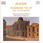 Haydn: Symphonies nos 72, 93 & 95 / Bela Drahos