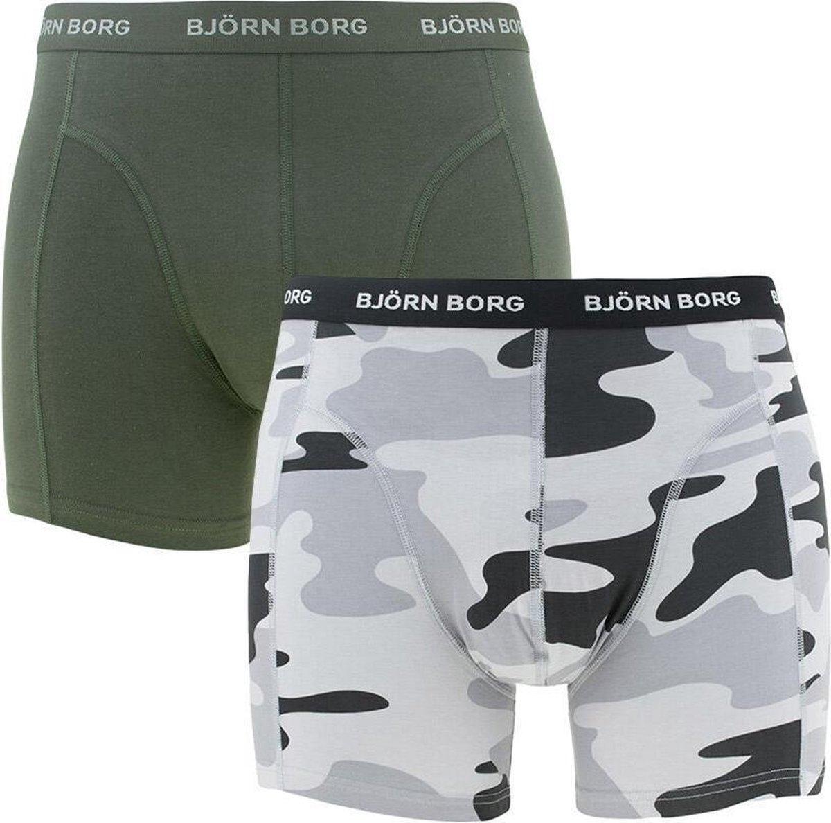 Bj rn Borg 2P Essentials Camo Heren Boxershorts - Maat M