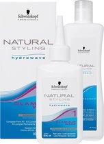 Schwarzkopf Natural Styling Glamour Wave Hydrowave 1 Kit - 80 ml - Permanentvloeistof - Haarverf