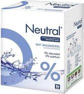 Neutral 0% Wit Parfumvrij Waspoeder - 45 wasbeurten - 3 kg - Wasmiddel