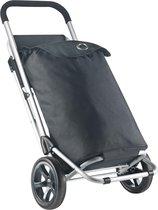 ShoppingCruiser Shop & Relax - Boodschappentrolley met zitje - Boodschappenwagen Zwart