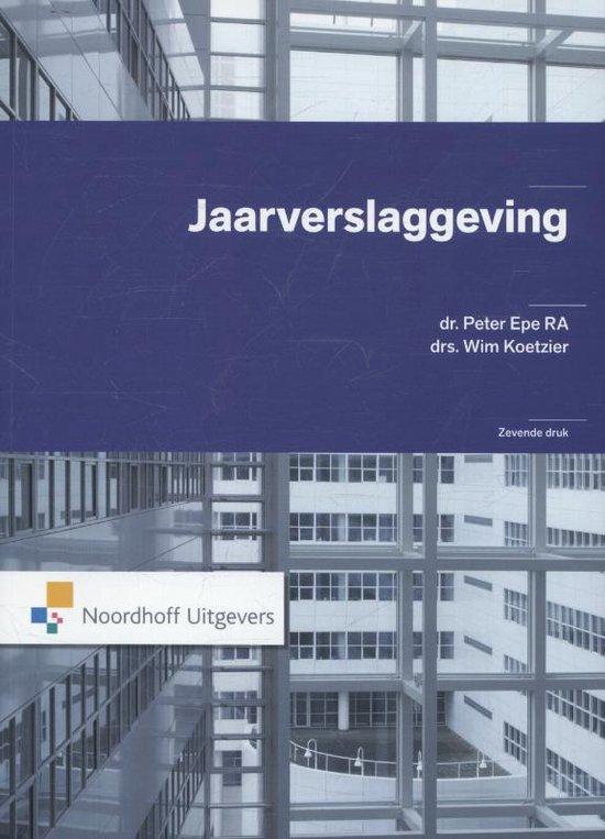 Boek cover Jaarverslaggeving van Peter Epe (Paperback)