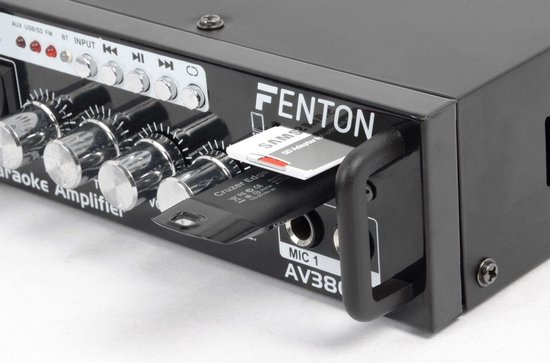 Karaokeset - Fenton AV380BT karaokeset met versterker, luidsprekers USB/SD mp3 speler, Bluetooth & 2 microfoons