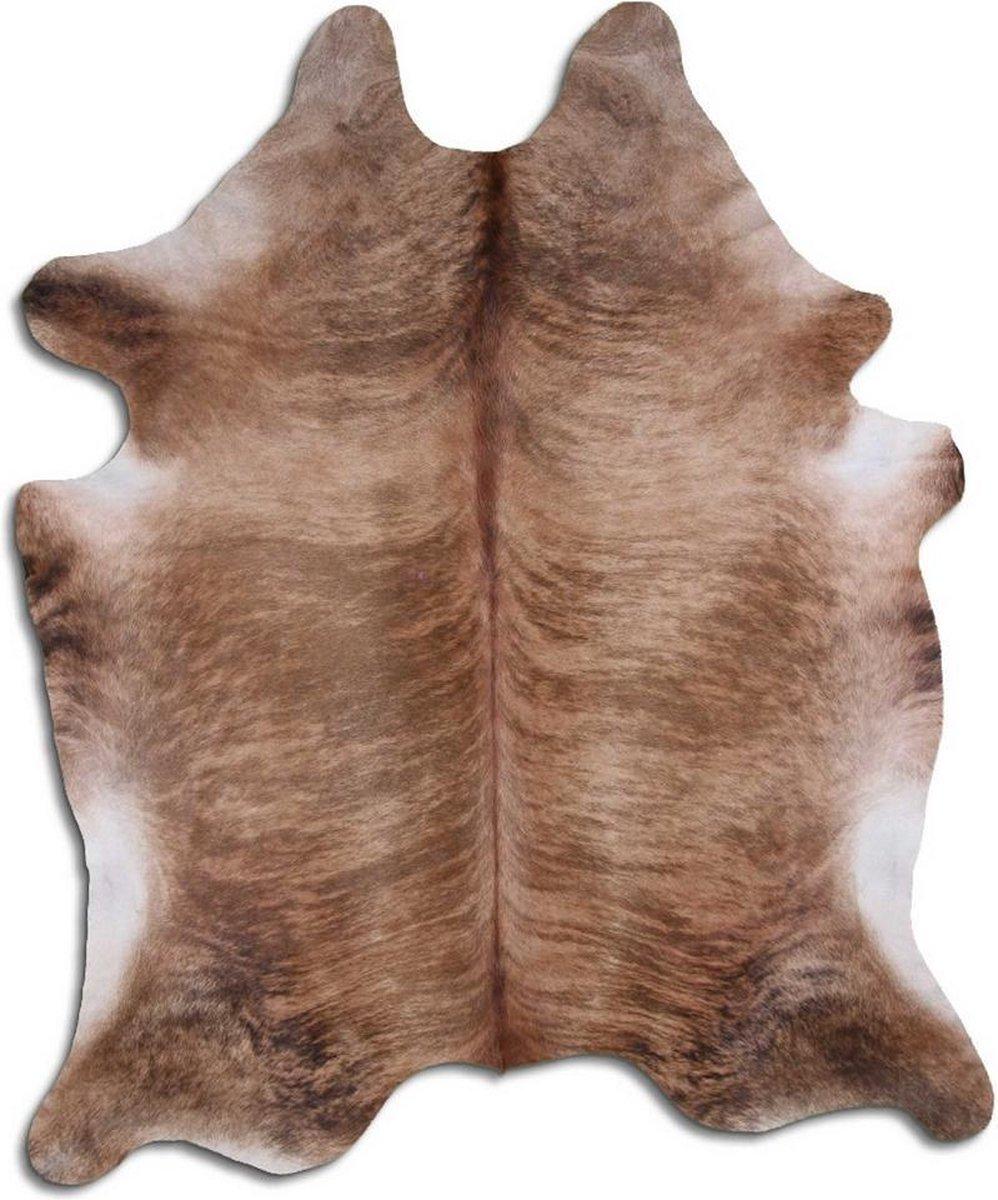 Koeienhuid 1797 XL vloerkleed - By Max - Bruin - 250x200 - Echt leer - Dierenvellen