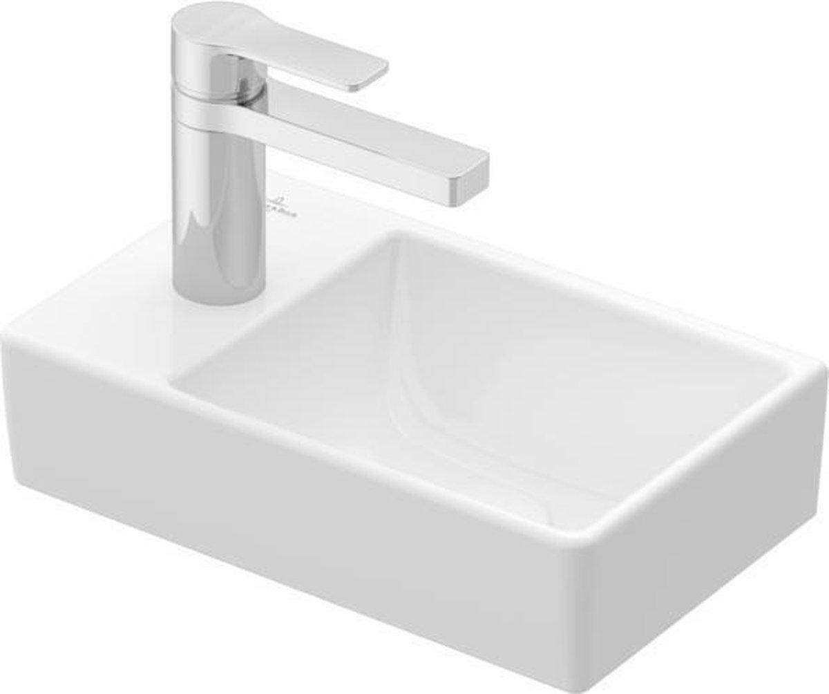 Villeroy & boch Avento fontein 1 kraangat links zonder overloop 36x22cm ceramic+ wit