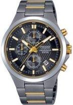 Pulsar PM3113X1 horloge heren - zilver en goud - titanium