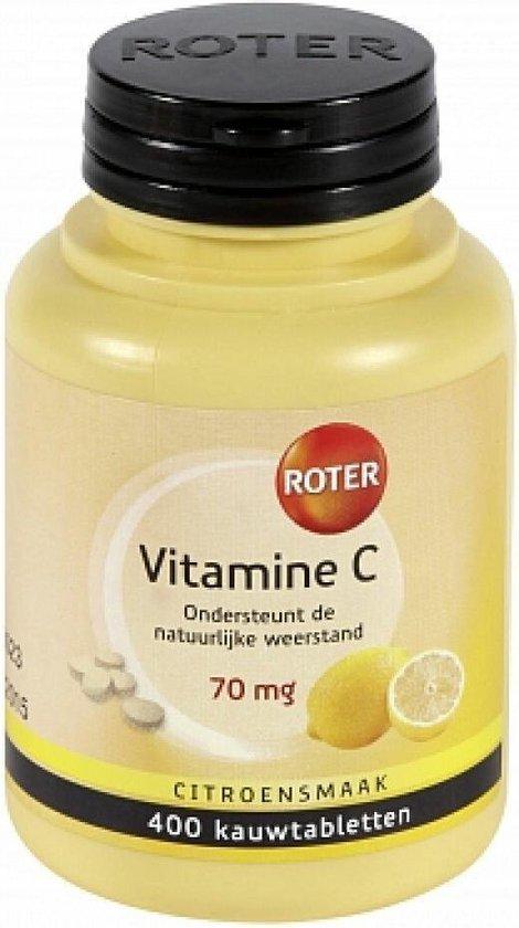 Roter Vitamine C 70mg Voedingssupplement - 400 Kauwtabletten