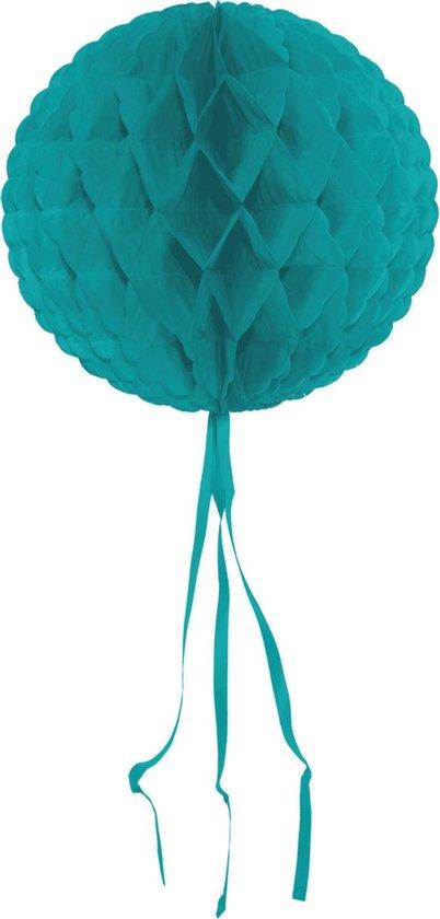 Turquoise Honeycomb Bol - 30 cm