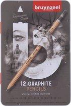 Grafietpotloden in blik Expression: 12 stuks (6031