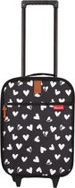 Kidzroom Hearts Handbagage koffer 40 cm - Zwart