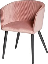 Furn4all® - Claire - Eetkamerstoel - Kuipstoel - Velvet eetkamerstoel - Stoel - Stof - Roze