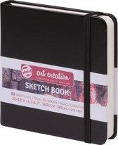 Schetsboek 12x12 cm 140g zwart