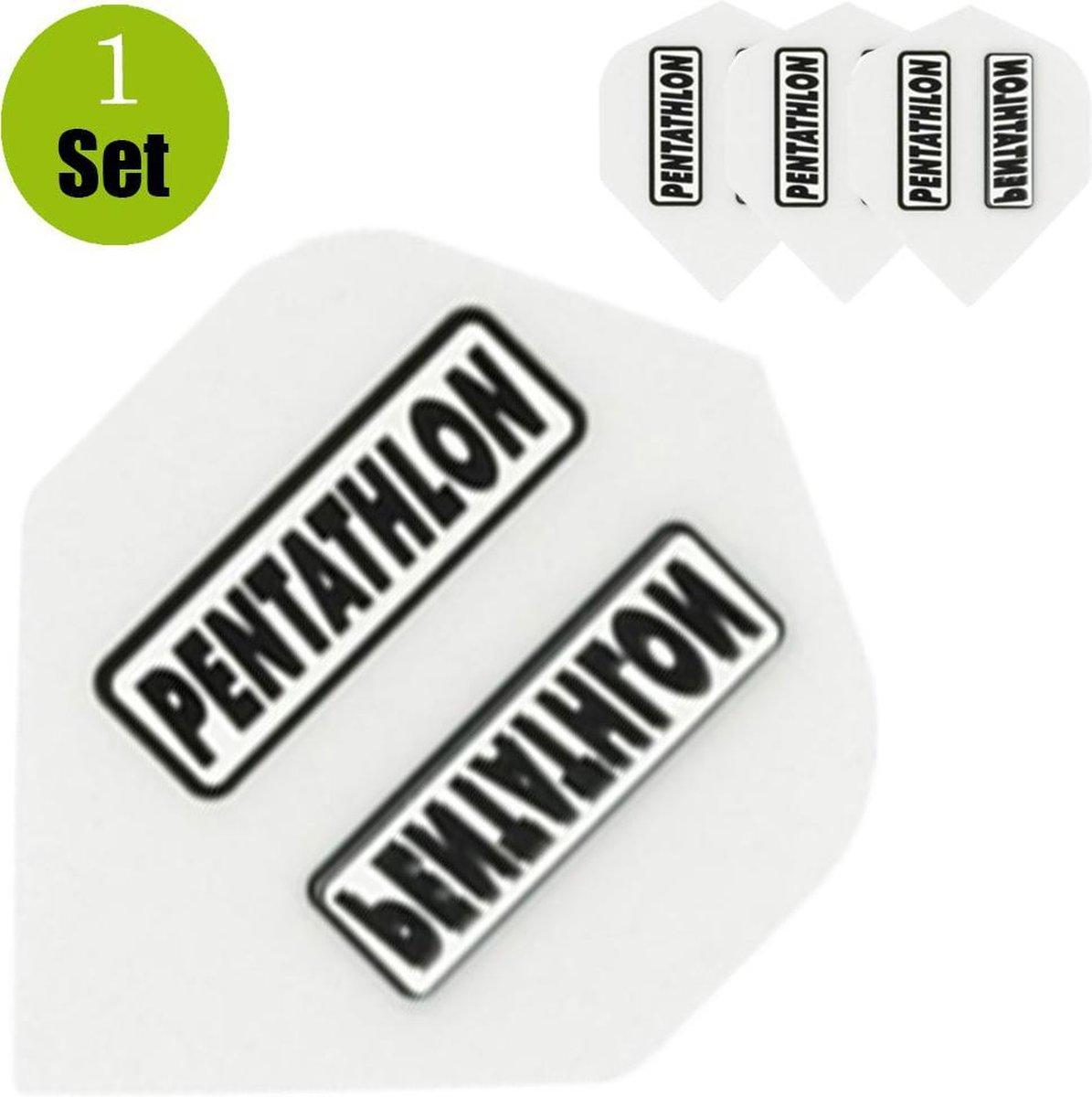 Pentathlon Dartflights - Wit- ()