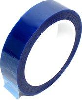 Hittebestendige polyester silicone tape blauw 25mm x 66m