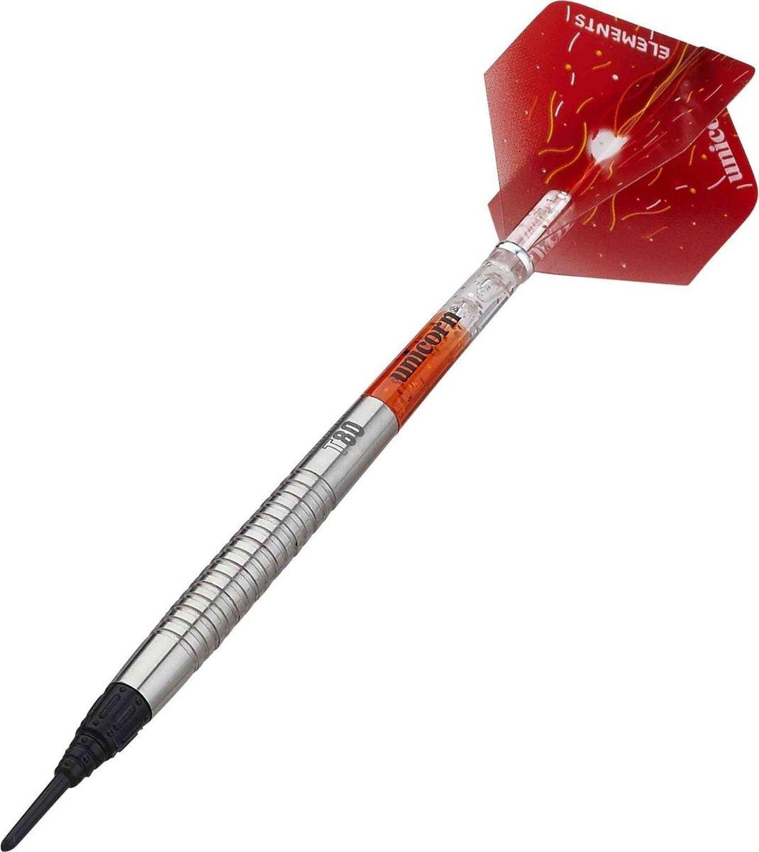 Unicorn Dartpijlen Core Xl Striker Softtip 20g Tungsten Zilver