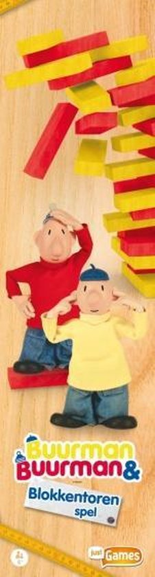 Afbeelding van het spel stapeltoren Buurman & Buurman hout rood/geel
