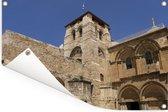 Foto van de buitenkant van de Heilig Grafkerk in Israël Tuinposter 180x120 cm - Tuindoek / Buitencanvas / Schilderijen voor buiten (tuin decoratie) XXL / Groot formaat!