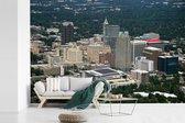 Fotobehang vinyl - Luchtfoto van de hoofdplaats van het Amerikaanse Wake County genaamd Raleigh breedte 540 cm x hoogte 360 cm - Foto print op behang (in 7 formaten beschikbaar)