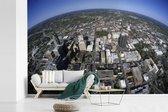 Luchtfoto van het Noord-Amerikaanse Raleigh fotobehang vinyl 540x360 cm - Foto print op behang