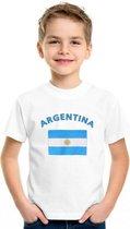 Kinder t-shirt vlag Argentina Xl (158-164)