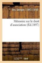 Memoire sur le droit d'association