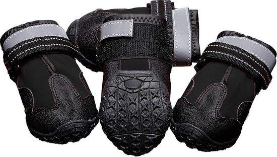 Eyzo Hondenschoenen 4 stuks - Zwart - Maat Schoen S - 4,57cm breed