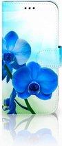 Samsung Galaxy J3 2017 Uniek Telefoonhoesje Met Blauwe Orchidee