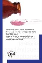 valuation de L Efficacit de la M floquine