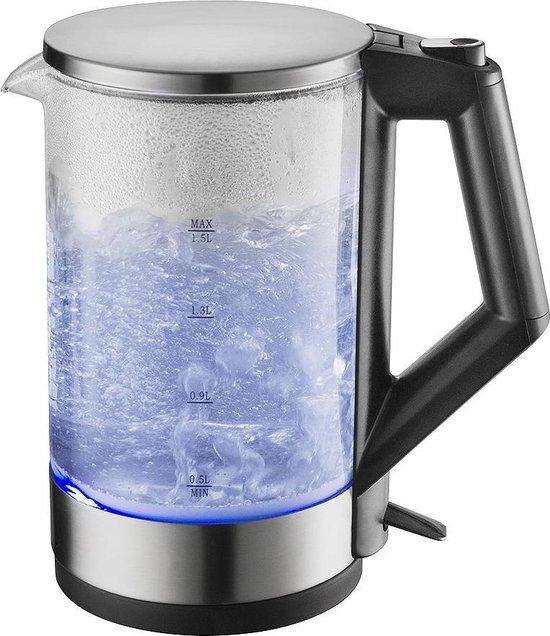 Royalty Line Glazen Waterkoker Blauw LED verlichting 1.5 Liter