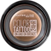Maybelline Color Tattoo 24H Oogschaduw - 35 On and On Bronze - Bruin