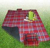200x150cm Red Outdoor Beach Camping Mat Picnic Blanket(Red)
