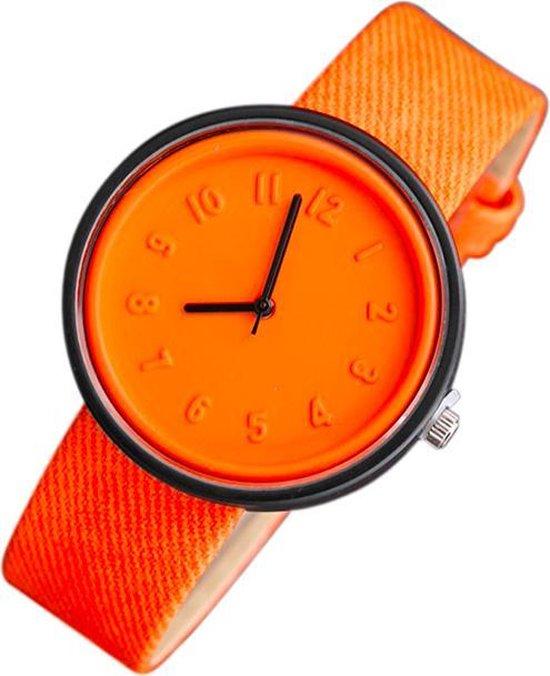 Hidzo Horloge – ø 37 mm – Oranje – Kunststof