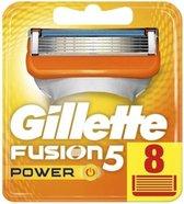 Gillette Fusion5 Power Scheermesjes 8 stuks - Wit