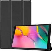 Samsung Galaxy Tab A 10.1 (2019) hoes - Tri-Fold Book Case - Zwart