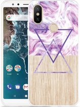 Xiaomi Mi A2 Hoesje Color Paint Wood Art