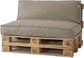 2L Home & Garden Palletkussen Metro Lounge Beige - 120 x 80cm