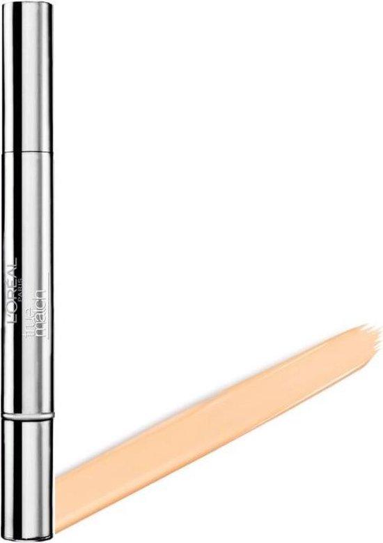 L'Oréal Paris True Match Touche Magique - DW1-2 Ivory Beige - Concealer en Oogcrème in 1, Verrijkt met 0,5% Hyaluronzuur