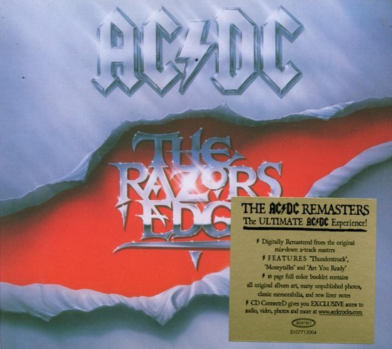 CD cover van The RazorS Edge van AC/DC