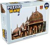 Puzzel 500 stukjes India - Galtaji Tempel India  - PuzzleWow heeft +100000 puzzels