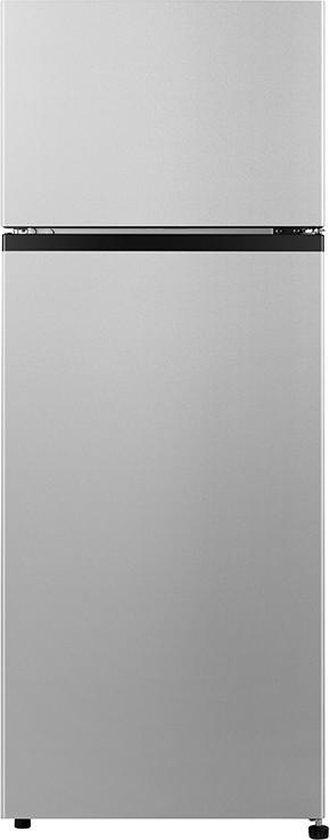 Koelkast: VALBERG By Electro Depot - 2D206FS180C - Koel-vries combinatie - Silver - 143,4 cm Hoog, van het merk VALBERG
