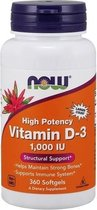 Now Foods - Vitamine D3 1000IE - 360 Softgels
