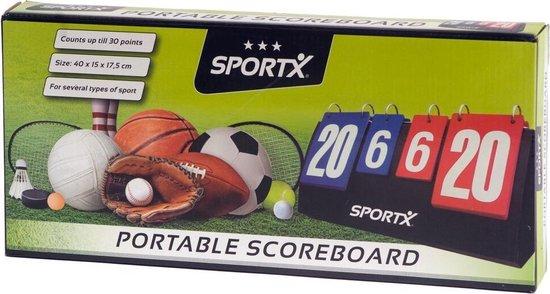 Thumbnail van een extra afbeelding van het spel SportX Draagbaar Scorebord tot 30 Punten