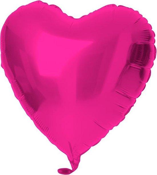 18in/45cm Heart Shiny Magenta