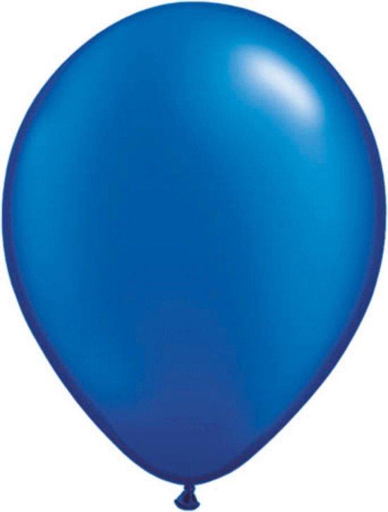 Folat Ballonnen Pearl Sapphire 13 Cm Latex Donkerblauw 100 Stuks