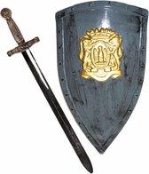 Ridders verkleed wapens set - schild met zwaard van 63 cm - Speelgoed voor kinderen