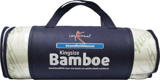 Lucovitaal Kingsize Bamboe kussen