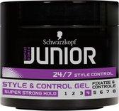 Junior Power Styling Control Gel L4 150 ml - 6 stuks - Voordeelverpakking