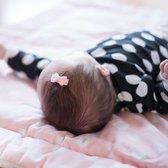 Setje van twee lichtroze baby haarspeldjes met strik | Roze | Baby