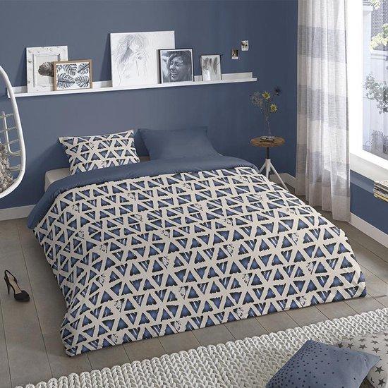 Dekbedovertrek Lounge –  2-persoons (200 x 200/220 cm) – Katoen – Blauw |  Meerkleurig | Multi | Multicolor – Good Morning